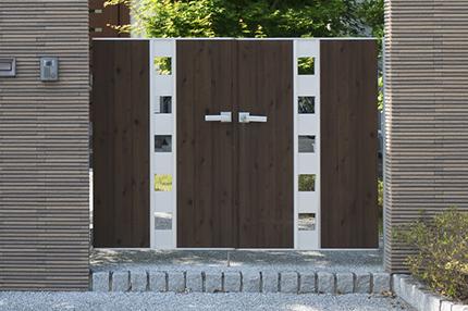 アルミタイプ門扉